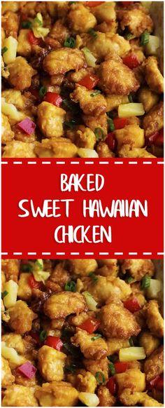 BAKED SWEET HAWAIIAN CHICKEN  #baked #sweet #hawaiian #chicken #whole30 #foodlover #homecooking #cooking #cookingtips