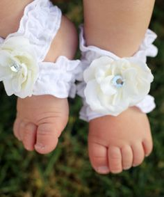 Take a look at this White Twinkle Toes Blooming Wraps by ToeBlooms on #zulily today!