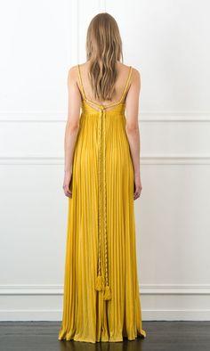 Rachel Zoe Kim Pleated Maxi Dress