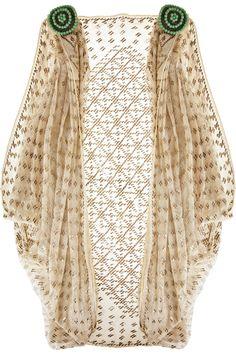Antique Rose 1920s Egyptian cotton shrug