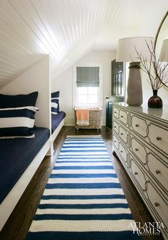 guest room - great use of space with the sloped ceiling