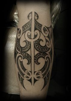 Custom New Zealand Maori Ta Moko Kirituhi Pacific Tribal Calf Turtle Tattoo Design_tattoo gallery #samoan #tattoo