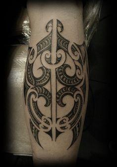 Custom New Zealand Maori Ta Moko Kirituhi Pacific Tribal Calf Turtle Tattoo Design_tattoo gallery #samoan #tattoo