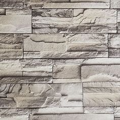 238x195 Modern Minimalist PVC Wallpaper Adhesion Waterproof Fireproof Removable Wall Decor Sticker GrayBrick * Check out the image by visiting the link.