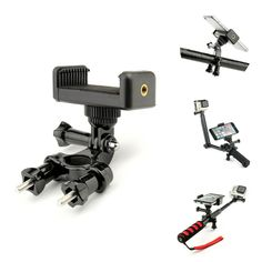 Color : Black, Size : One Size BWAM-elck Travel Tripod Monopod Extendable Mini Desktop Tripod 2 in 1 Phone Holder Mount Tripod for DSLR Camera Smart Phone Ideal for Travel and Work