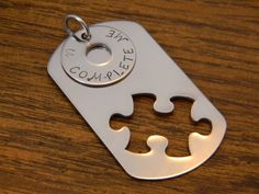 U COMPLETE ME  Stainless Steel Necklace by Personalized4UOnly, $22.00