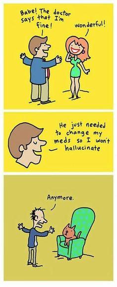 funny sad hallucinate