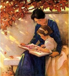 Reminds me of my time with my precious daughter - seems like we are always pouring ourselves over books