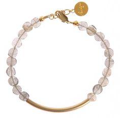 The Gold Bar Bracelet In Labradorite from notonthehighstreet.com