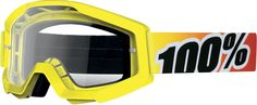 100% Strata Motocross Goggle Clear Scratch Resistant Lexan Lense - Adult
