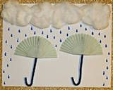 Umbrella picture using cupcake liners