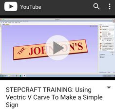 #STEPCRAFT TRAINING: Using Vectric V Carve To Make a Simple Sign http://youtu.be/ng0_fm4-g0k