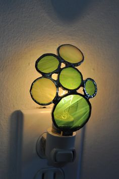 'Bubbles' Stained Glass Nightlight, ABJglassworks on Etsy, $28.00
