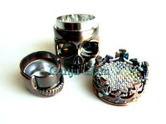 Herb Grinder Skull King Crown Metal Grinder Bling by GanjaGlam, $50.00 I have to has this. Now. Someone buy this for me.