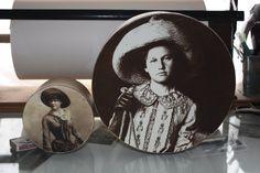 "10"" Round Hat Box -Cowgirl Roper. $22.95, via Etsy."