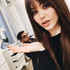 """Kristina Bazan on Instagram: """"It's been ages that I wanted to do it, and it finally happened thanks to this genius @fredericmennetrier in his salon in Paris. I went to the dark side and today I am shooting my first L'Oréal Paris campaign. So happy and excited⚡️ #WaitForIt"""""""