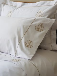 Beautiful embroidered sheet set comes in monogram and or over 100