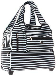 Sydney Love Black & Steel Blue Stripe  Day Trip13089 Weekender,Multi,One Size