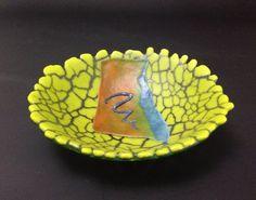 Fused glass bowl. Gertie Zeiter