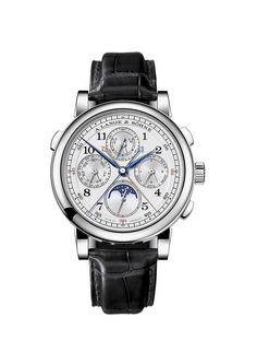 Lange & Sohne 1815 Rattrapante Perpetual Calendar, which unites two refined classic complications: a split-seconds chronograph and a perpetual calendar.