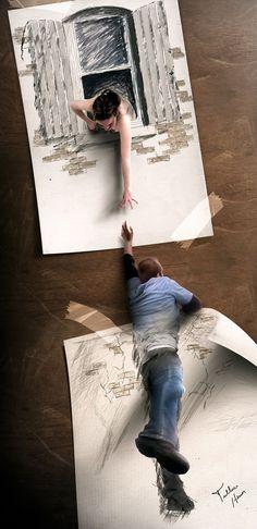 Artista brasileiro cria ilustrações digitais que transbordam do papel