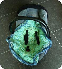 Crochet carseat blanket