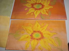 Painted sunflower seed envelopes