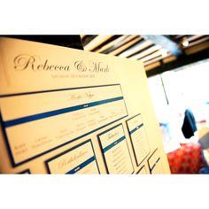 Blue Wedding Table Plan