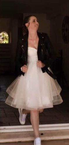 Robe de mariée courte façon rock n'roll, 2eme robe du mariage du 4 juillet 2020
