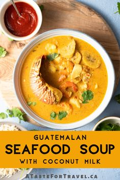 Bring the flavors of the Caribbean to your table! Tapado, a delicious seafood soup with coconut milk Coconut Soup Recipes, Quick Soup Recipes, Seafood Soup Recipes, Coconut Milk Soup, Chili Recipes, Fish Recipes, Seafood Diet, Shrimp Recipes, Recipes