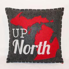 Up North Michigan Eco Felt Pillow