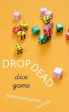 Drop Dead is a fun dice game for kids that uses math skills. Drop Dead is a fun dice game for kids that uses math skills. Activity Games, Math Games, Activities For Kids, Therapy Activities, Articulation Activities, Group Activities, Indoor Activities, Multiplication Dice Games, Logic Games