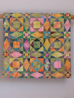 Jewel Box wall quilt.