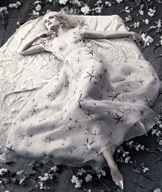 """miss-mandy-m: """"""""Romantic White"""". Mia Stass in Valentino SS 2015 for Glamour Italy, May """" Artistic Fashion Photography, In Her Eyes, Glamour, Beauty Editorial, Classy Outfits, Valentino, People, Black And White, Pale White"""