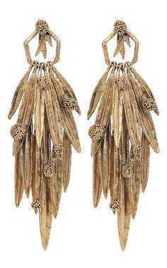 Surfing Mimosa Articulated Earrings by Aurélie Bidermann for Preorder on Moda Operandi