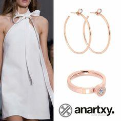 Elegancia en rosa #anartxy #JoyasEnAcero #JóiasEmAço #SteelJewel #BijouxEnAcier #estilo #style #woman #rosa