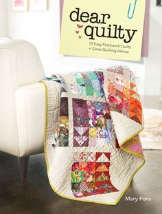 Dear Quilty seeks to inform and inspire the next generation of quilters by delivering straight forward instruction with humor, zest, and respect for the art of quilting!  With 12 simple quilt patterns, along with inspiring stories, fan