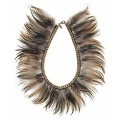 Lioness feather collar, $350