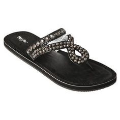 Mossimo Lusa Studded Flip Flops    http://www.target.com/p/women-s-mossimo-lusa-studded-flip-flops-black/-/A-13078987