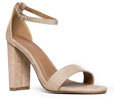 Strappy High Heel - Cute Chunky Block Heel - Formal, Wedding, Party Sandal – Simple Classic Pump - Comfortable Ankle Strap Design -- Check out this great image  - Gladiator sandals