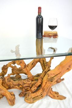 Old Vine Grapevine Coffee Table Vernaccia By Winecountrycraftsman - Grapevine coffee table