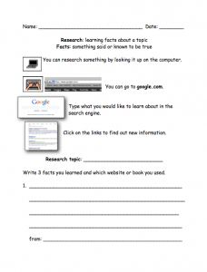Research Worksheet with Visual Cues {freebie} by theautismhelper.com