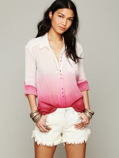 Free People FP ONE I Shall Be Free Buttondown, 38.19
