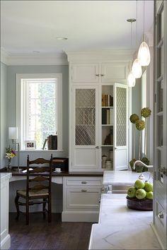 Kitchen Desk Corner / Nook .