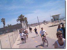 Bike Path from Santa Monica to Redondo Beach along the ocean