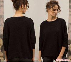 . Джемпер оверсайз спицами - Вязание - Страна Мам Brooklyn Tweed, Pullover, Knitting, Long Sleeve, Sleeves, Mens Tops, T Shirt, Clothes, Relax
