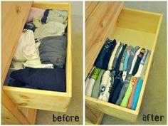 Badabun: 18 Trucos para organizar los armarios y cajones de tu casa que harán que todo sea más sencillo.