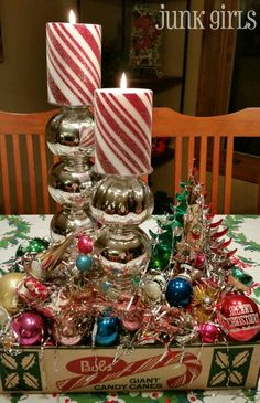 Vintage Christmas Centerpiece - The Junk Girls