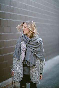 cozy gray outfit