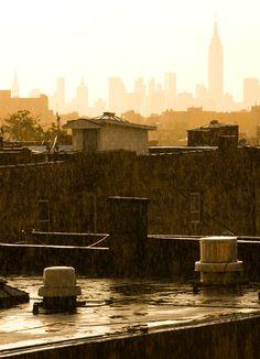 Beautiful sun shower in Bushwick, Brooklyn. #view #sun